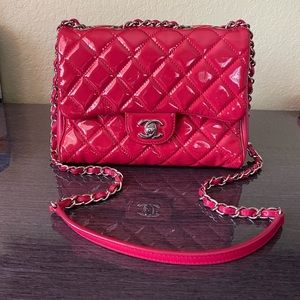 CHANEL PATENT CROSSBODY BAG